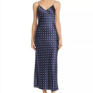 Anine Bing Rosemary Tile Print Silk Slip Dress